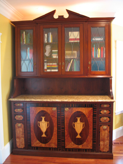 Sideboard with Faux Painted Bookshelves