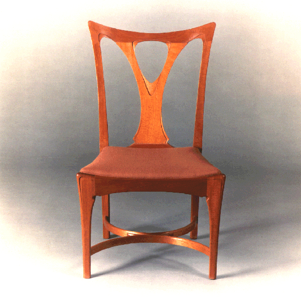 Mahogany Art Nouveau Chair